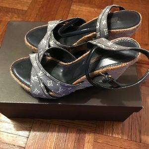 Louis Vuitton Majorca Wedge Sandal - 8cm